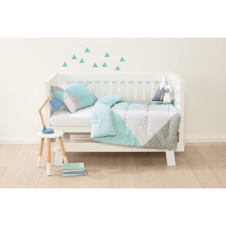 reversible cot comforter set blue splice kmart