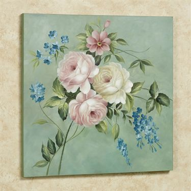 Rose Opulence Floral Canvas Wall Art