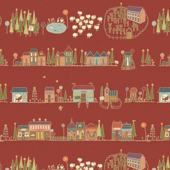 Hometown Holiday - Christmas Street in Red (8140-88)