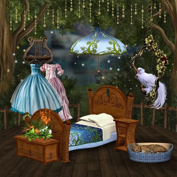 Girly room 3 by collect and creat photoshop resource for Girly wallpapers for bedrooms