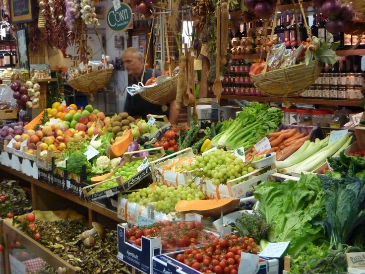 A colourful display at Florence's Mercato Centrale (central market).  A great place to visit even if you aren't buying!!