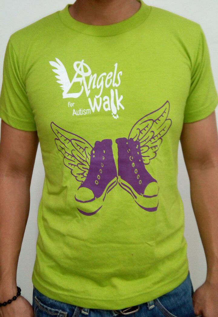 The Angels Walk for Autism is the country's biggest autism inclusion advocacy event.    Order this item at: https://autismall.myshopify.com/products/shirt-angels-walk-2012