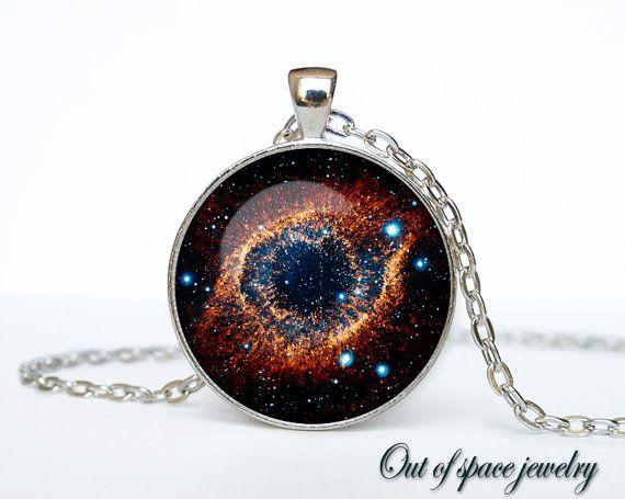 """Helix Nebula pendant Helix Nebula necklace by outofspacejewelry, $13.75 Talk about a """"God's Eye"""" !!!"""
