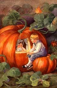 Peter Peter pumpkin eater,  Had a wife and couldn't keep her!  He put her in a pumpkin shell,  And there he kept her very well!