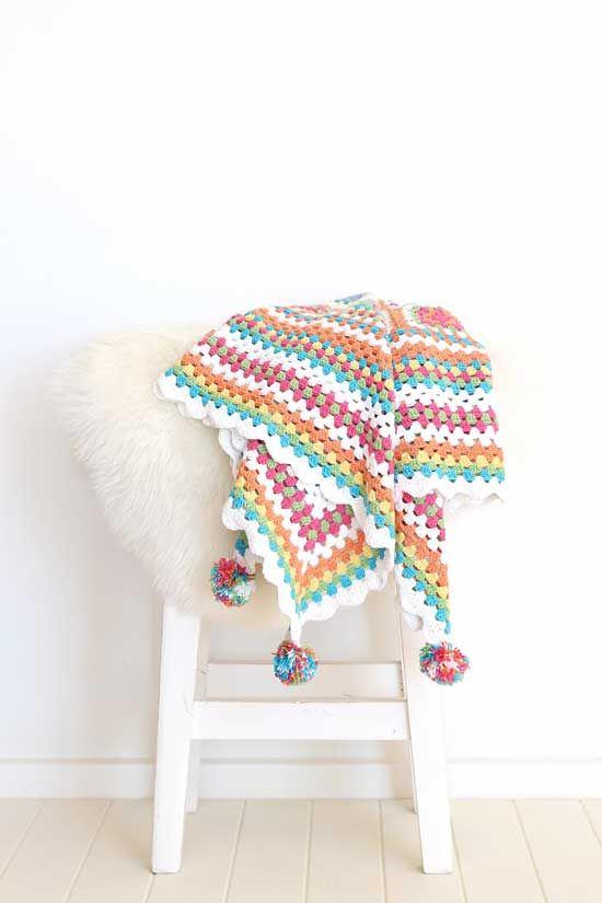 Mejores 45 imágenes de Crochet, mantas en Pinterest | Almohadas ...