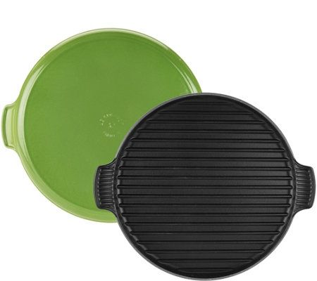"Le Creuset 12.25"" Round Cast Iron Grill"