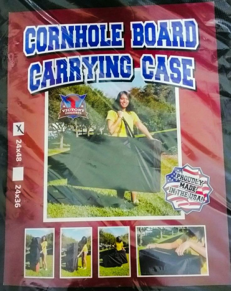 NEW Cornhole Board Carrying Case 24x48 Black Full Size Canvas Regulation Board #Unbranded