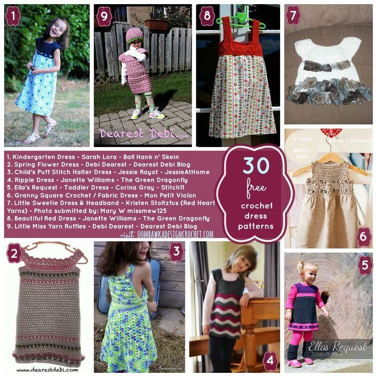 173 best Crochet♡Girls♡Dresses images on Pinterest | Crochet ...