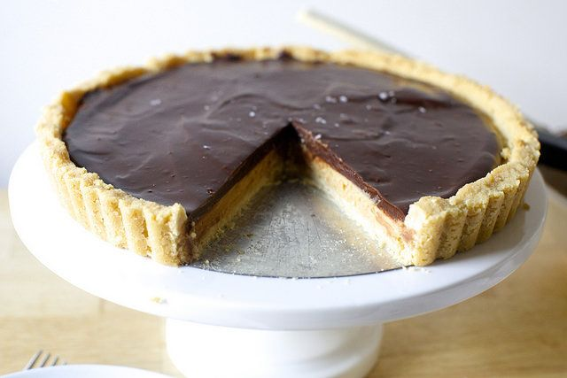 peanut butter chocolate tart, tagalongs-style by smitten kitchen, via Flickr