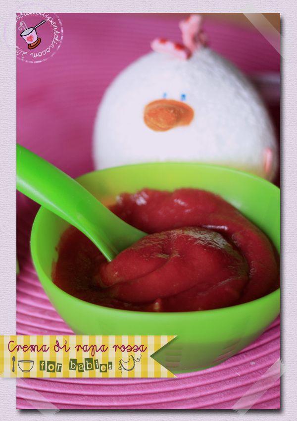 crema di rapa rossa per lo svezzamento dei bimbi