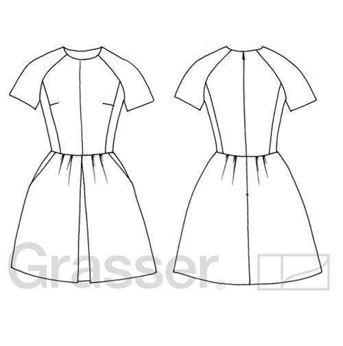 Выкройка платья, модель №226, магазин выкроек grasser.ru