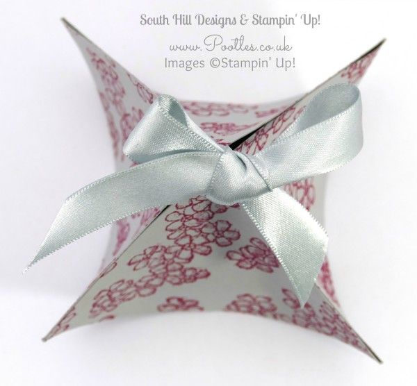 South Hill Designs  & Stampin' Up! Sunday Fluted Box & Locket Tutorial Overhead