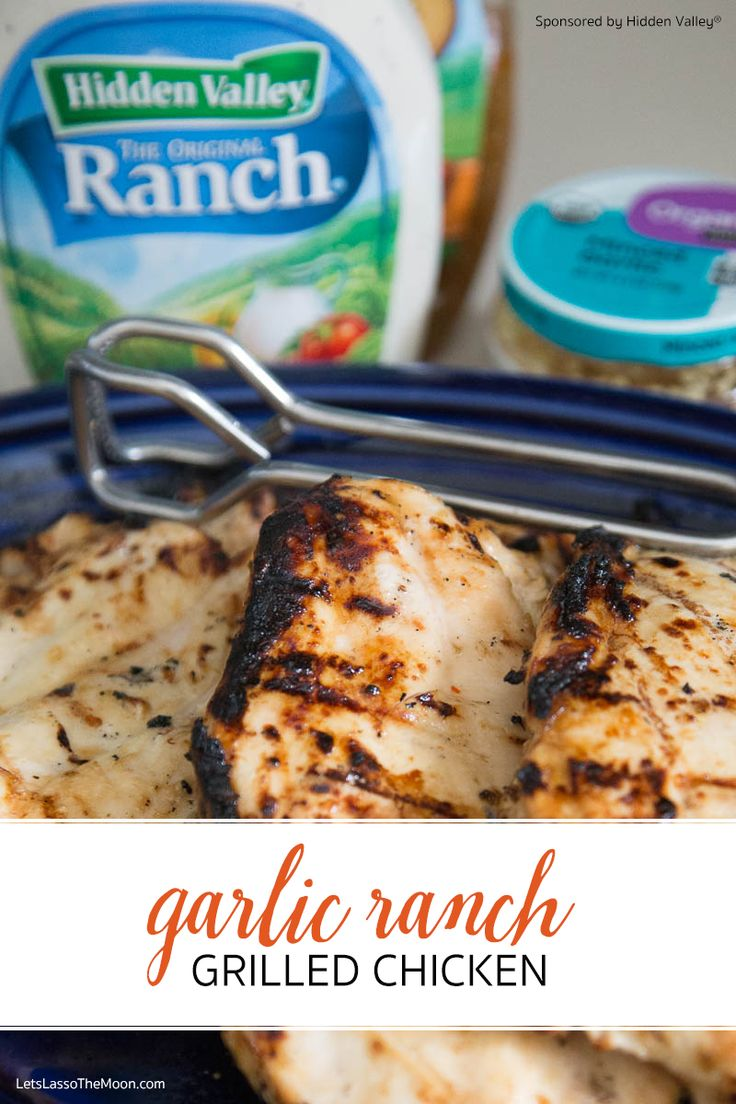 Garlic Ranch Grilled Chicken *This marinade recipe is SO SIMPLE and my kids and husband raved about it. Love that you can use the leftovers in so many different ways. Great for meal planning.