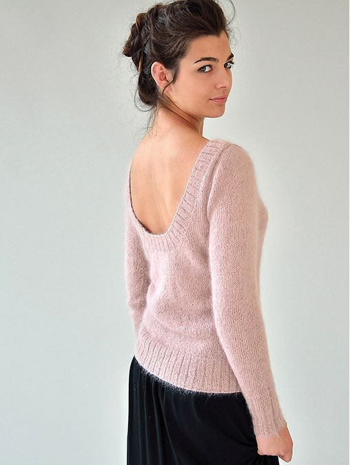 Silence by Kim Hargreaves, from pattern book Still.  Knit in Rowan Kidsilk Haze and Rowan Fine Lace held together.