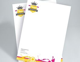 #Letter_Heads (A4) :- • Printed on smooth 120 laser paper • Full Colour to either one or two sides • Size: 210x297mm