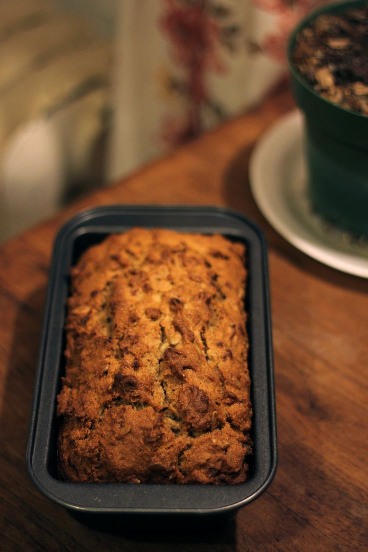 "kitchenben: "" Very Banana Bread I have a few go-to banana bread recipes. This one is simplest: requires no eggs and packs a lot of banana goodness. Usually I bake banana bread with eggs. But finding..."