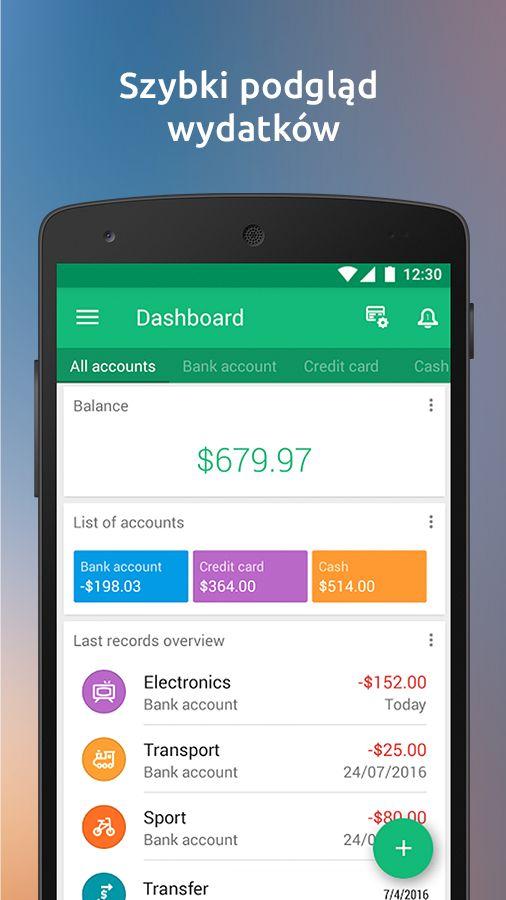 Wallet - przychody i wydatki – zrzut ekranu