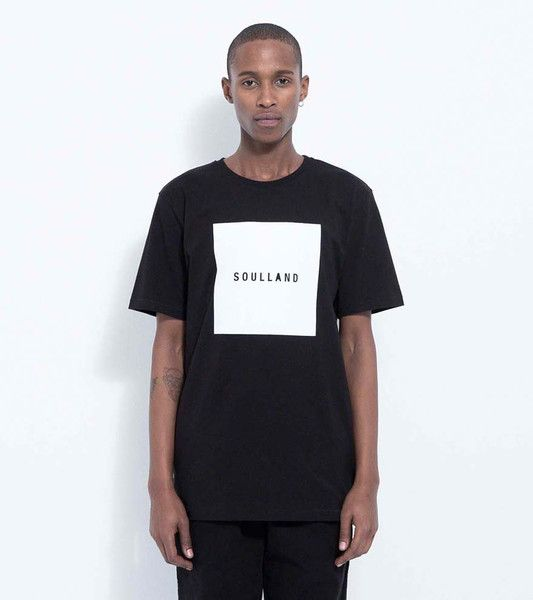 SOULSQUARE T-SHIRT WITH PRINT · BLACK