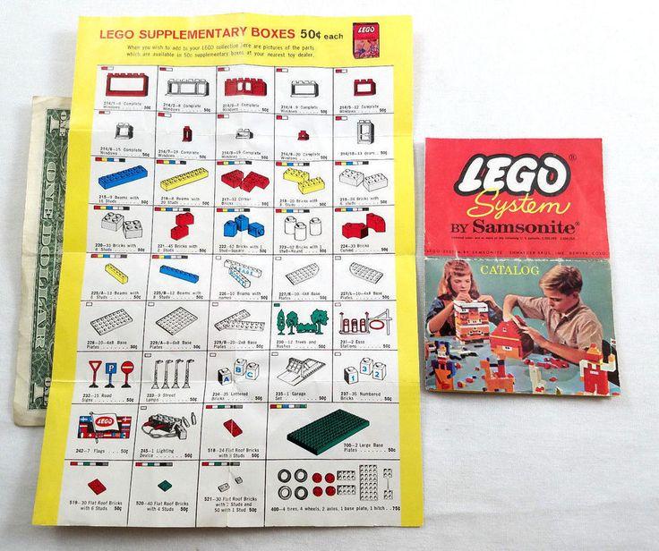 VINTAGE LEGO SYSTEM SAMSONITE PARTS CATALOG FORM H 1931 SHWAYDER BROS PROMO LOT  | eBay