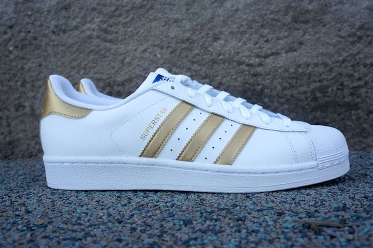 The adidas Originals Superstar in gold and white is back ! #adidasuperstar