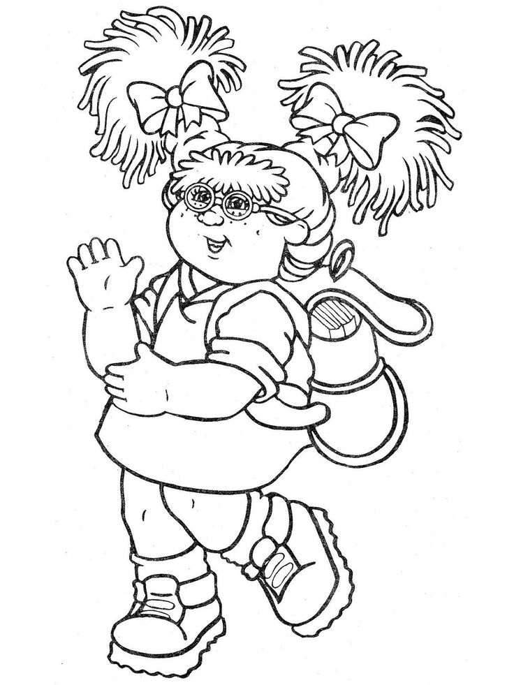 Cabbage Patch Kids   Cute coloring pages, Cabbage patch ...
