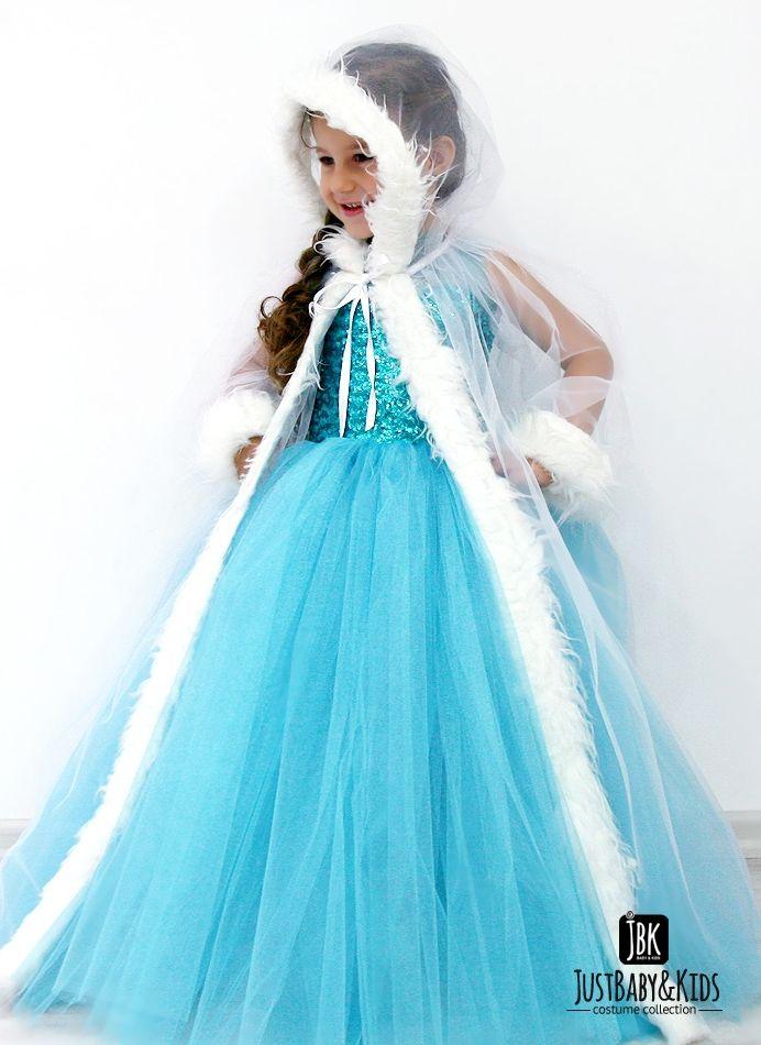 CCK20A Elsa Kostüm Pelerinli Just Baby & Kids - Bebek ve Çocuk Kostüm - Giyim - Elsa Frozen Costume
