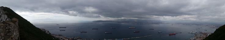 Vistas desde el Peñón de Gibraltar. España. Inglaterra y Marruecos.