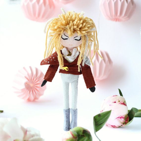 Jareth, David Bowie, Labyrinth movie. The Goblin King art doll. Movie Icons, Labyrinth art doll.