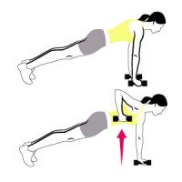 workout targets your entire upper and lower back, core, hips, and glutes. Do it two or three times a week (three sets of each exercise, working up to 12 reps per set) to improve your posture, prevent aches and pains, and achieve a strong, defined rear view.