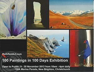 Open Studio and Gallery - 100 PAINTINGS IN 100 DAYS EXHIBITION from 9-30 November 2013