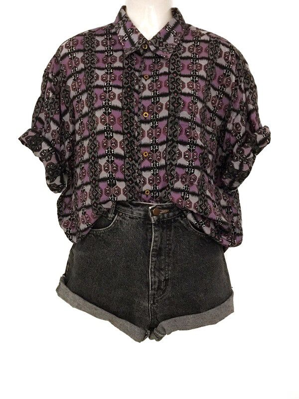 My True Vintage Ethno Aztec Pattern Shirt Blouse Unisex Oversize Urban Style from true vintage. Size Uni for 29,00 €. Take a look at it: www.klei …