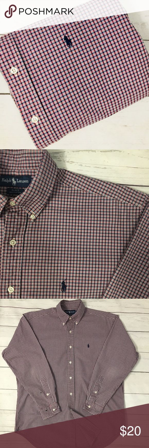 """🐎 🐎SALE 🐎1/$20•2/$35•3/$50•🐎POLO• RALPH• LAUREN•  🇺🇸Military, police & fire men & women receive 10% discount🇺🇸  men's  long sleeve 100% cotton oxford shirt• M BLAKE per tag, see measurements below•  Signature pony•  GUC• spots on cuff, as pictured•  shoulder: 20.5"""" Chest: 25"""" (armpit-armpit) Sleeve: 34"""" Length: 33""""  🐎CHECK BACK EACH WEEK FOR NEW POLO LISTINGS🐎 Polo by Ralph Lauren Shirts Casual Button Down Shirts"""
