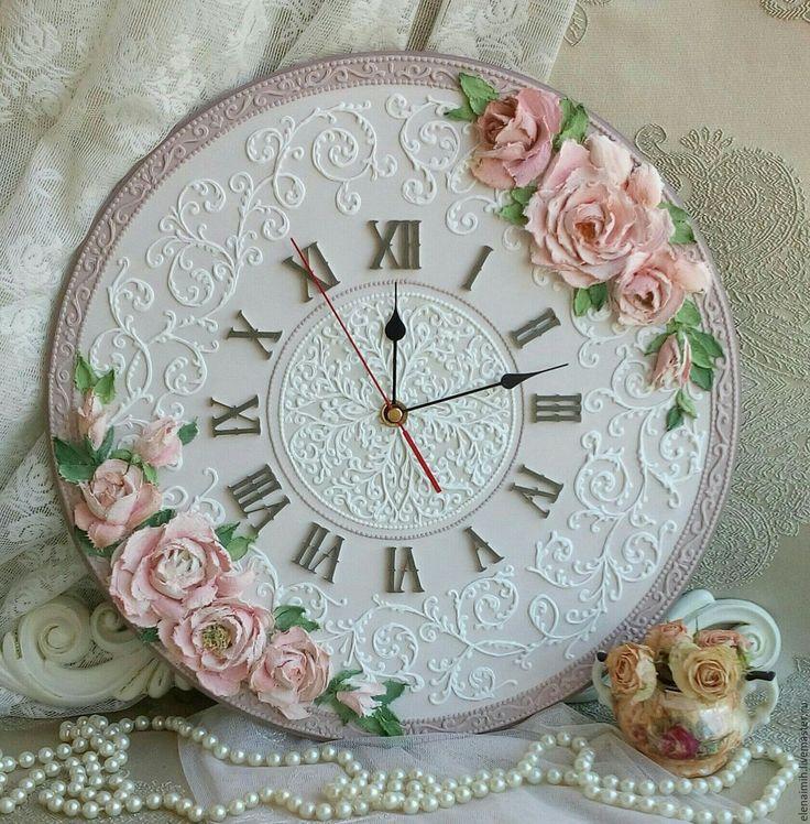 """Купить часы настенные """"Кристи"""", при заказе скидка 10% - бежевый, часы для дома"""