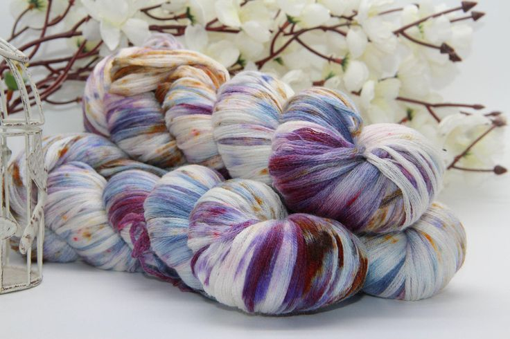Hand dyeing,  Merino/Cashmere/silk, 284 yards/260 meters, hieroglyph by PositiveCreative on Etsy