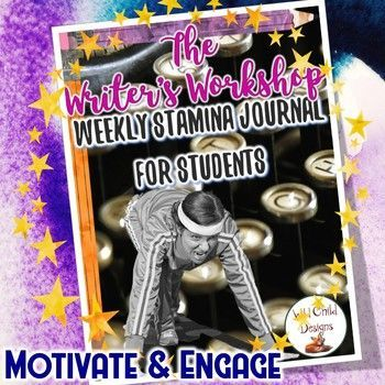 This product is an integral part of my writer's workshop. It's how I motivate my student writers. They set writing stamina goals based on a minimum that I set in class. Each night they use this journal for free writing at home. #stamina #writersworkshop #fifthgrade #FourthGrade #thirdgrade #writingstamina