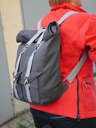 Rolltop backpack DIY - der Rucksack zum selbermachen