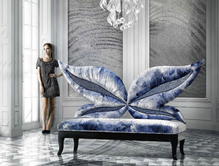 Amazing elegant sofa by Sicis Next Art