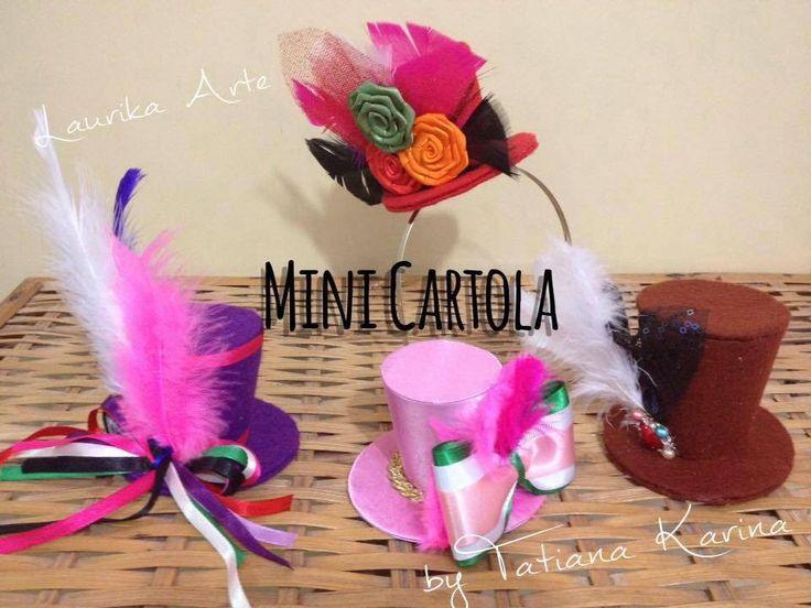 Mini Cartolas (Top Hat) by Tatiana Karina - Tutorial, PAP, Diy