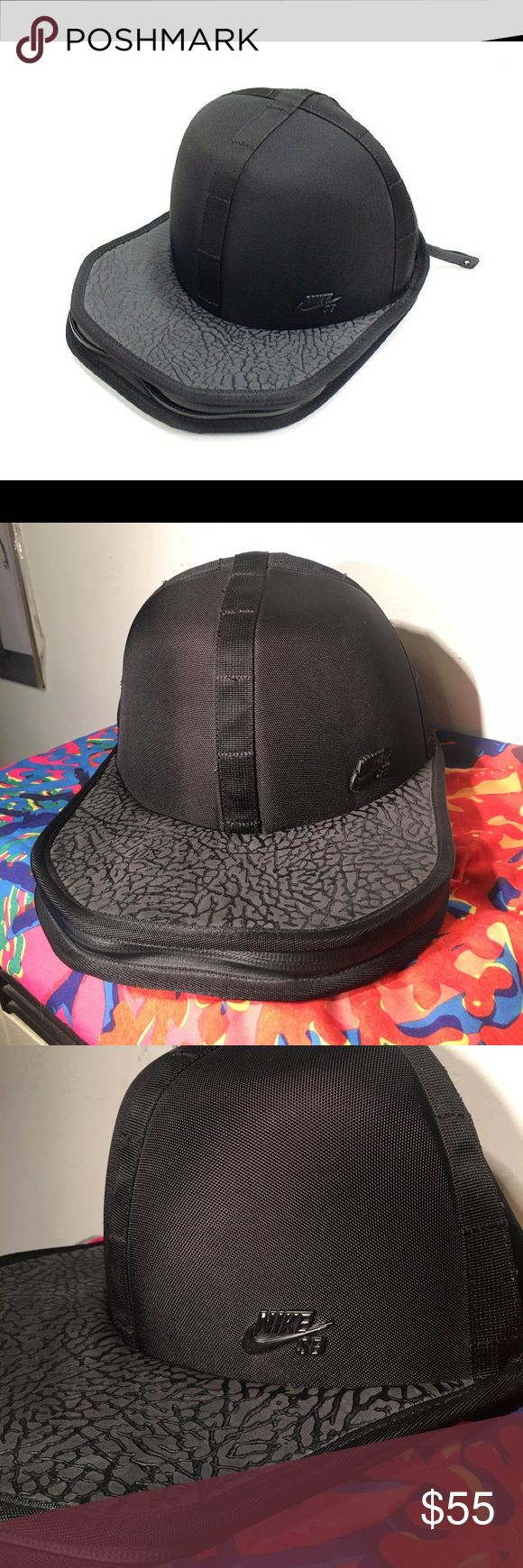 rare Nike SB nylon + leather hat holder Rare Nike SB backpack hat holder attachment. Can be attached to any backpack or carried alone. Perfect for skate bags. Ultra rare unavailable anywhere. Not sure this was ever even released publicly.  GREAT condition! Leather and Nylon. Protect your hat!!!! Nike Accessories