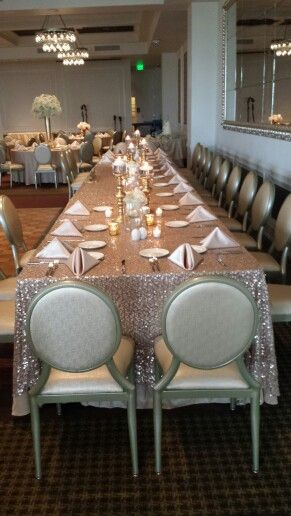 Long Head Table For Wedding Party