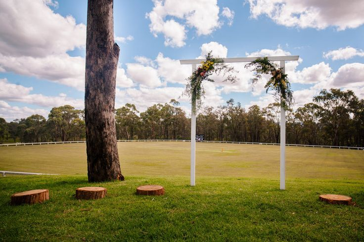 I love this simple flower arch.  #flower arch #HunterValley #flowers