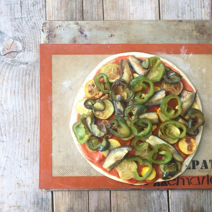 La ligne gourmande   Pizza aux légumes sur une pâte semoule & épeautre