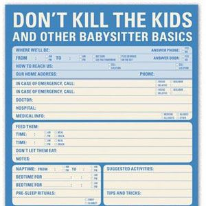 Babysitter Checklist   Repinned by Care Discounts. Follow us on https://www.facebook.com/care.compromocode   #care