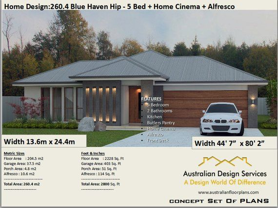 5 Bed House Plans Australia 260 4 M2 Or 2800 Sq Feet 5 Bedroom Design 5 Bed Floor Plans 5 Bed Blueprints 5 Bedroom Home Design House Plans Australia 5 Bedroom House Plans House Design