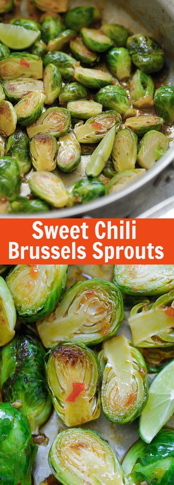 Sweet Chili Brussels Sprouts – easy and delicious sauteed brussels sprouts with Thai sweet chili sauce. Takes 15 mins to make. Read more at