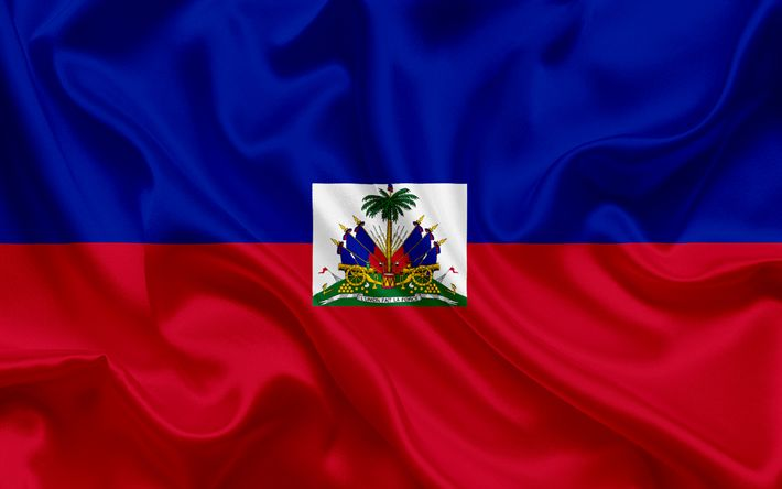 Download wallpapers Flag of Haiti, Caribbean, Haiti, flags of the countries