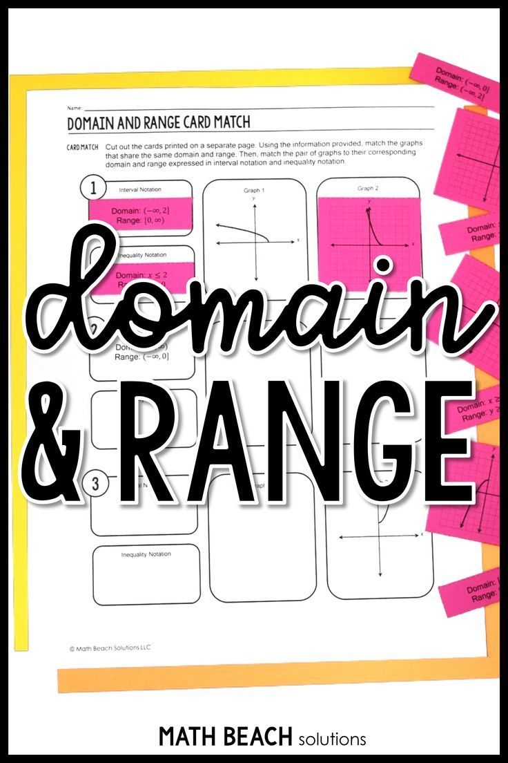 Fun And Free This Domain And Range Card Match Is Perfect For Connecting Inequality Notation Interval Notation Algebra Worksheets Graphing Functions Graphing