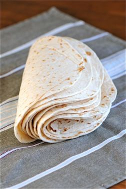 homemade flour tortilla recipe; I wonder if this would work using gluten