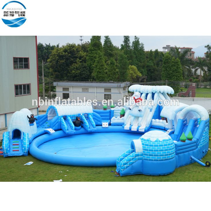 Inflatable Water Slide With Price: Giant Inflatable Floating Water Slide Park Price ,Snow And