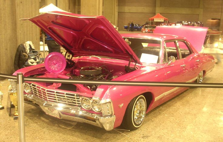 67 chevy impala in pink oooo ahhhh cars pinterest. Black Bedroom Furniture Sets. Home Design Ideas